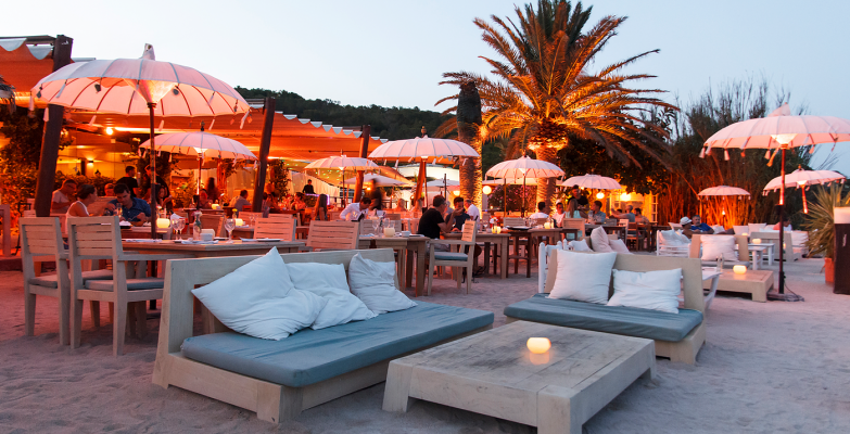 The most beautiful beach restaurants at Ibiza La Escollera